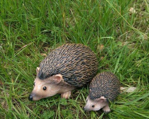2pc Hedgehog Decorative Novelty Garden Ornament Animal nature Lawn Statue NEW