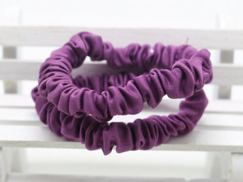 50 Satin Elastic Scrunchie Hair Band Rope Elastic-Band Loop Ponytail Wholesales