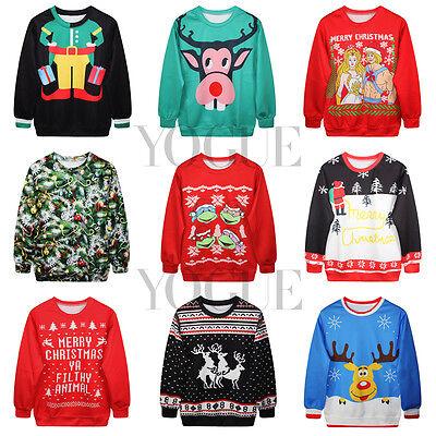 Christmas!3D Graphic Printed Hoodies Men's Women's Jumpers Pullover Sweatshirts