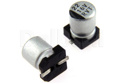 10pcs SMD Aluminium Electrolytic Capacitor 16V 22uF 4x5mm