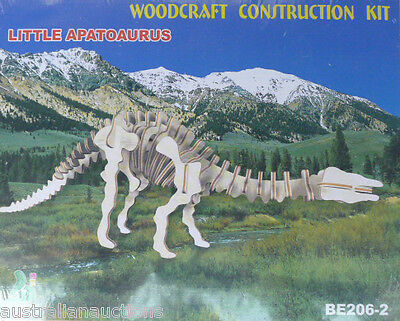 LITTLE APATOAURUS  DINOSAUR WOOD 3D PUZZLE EDUCATIONAL & FUN FOR ALL AGES