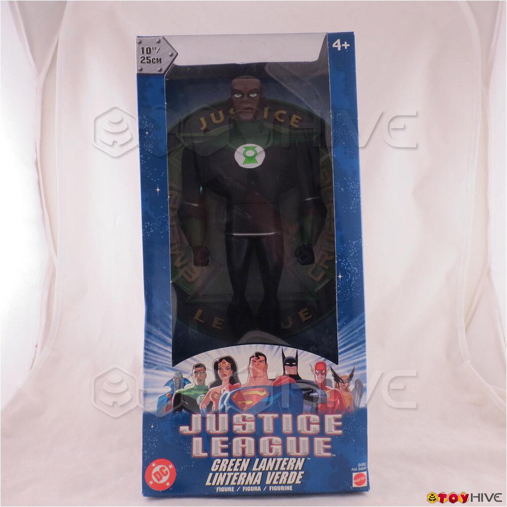 Justiz liga unbegrenzten Grün lantern 10 - zoll - figur eine Blau box getragen.