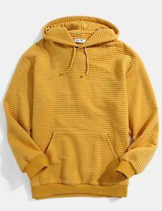 Mens-Screw-Thread-Solid-Elastic-Hem-Kangaroo-Pocket-Pullover-Hoodies