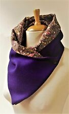 HARRIS TWEED fabric Scarf/Snood with Liberty Tana Lawn lining