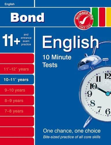 WHS Bond 11+ English Pack: Bond 10 Minute Tests 10 - 11 years English By Sarah
