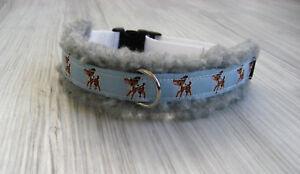 Umfang-35-42-cm-Hundehalsband-Halsband-Hundebekleidung-Handarbeit-Verstellbar