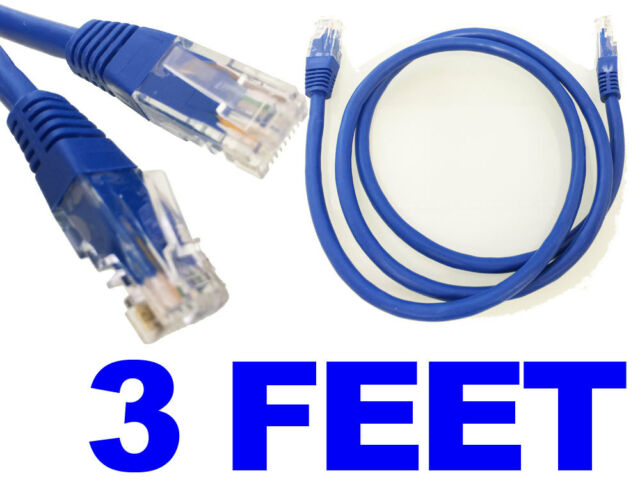 10 LOT 3FT White Cat6 Network LAN Copper Cable Ethernet patch Rj45 pack 3 FT