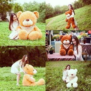 32''-78'' Huge Big Lovely Teddy Bear 85-160cm Baby Plush Soft Xmas kids gift New