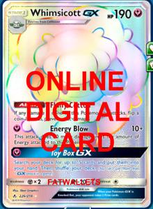 1X Whimsicott GX 226//214 Unbroken Bonds Pokemon TCG Online Digital Card