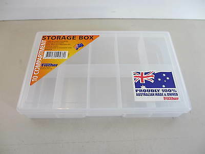 Fischer Plastic Products 10 Compartment Storage Boxes Small 1H-033 Clear