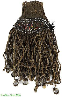 Tikar Charm Pendant Woven with Beads Cameroon African Art