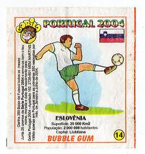 Portugese Gorila gum Wax Wrapper Euro 2004 - Team Colours & Flag - #14 Slovenia