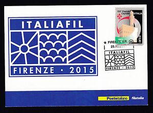 CARTOLINA-ITALIAFIL-FIRENZE-2015-TIRATURA-LIMITATA-E-NUMERATA-23-10-2015