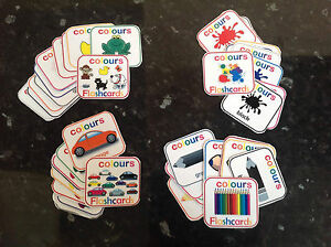 colours flashcards pre made cards learning colours EYFS SEN colour ...