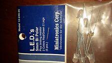 Miniatronics LEDs 5mm Ultra Bright White 2 pcs 12-500-02 NIP