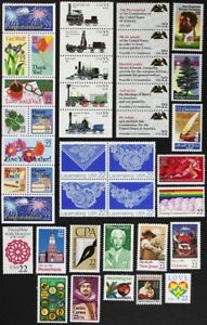 US 1987 Commemorative Year Set 90 stamps with 50-Wildlife set #2286-2335 Mint NH