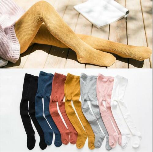 Girls Knitting Socks Tights Baby Plain Cotton Babies Toddler 1-8 years
