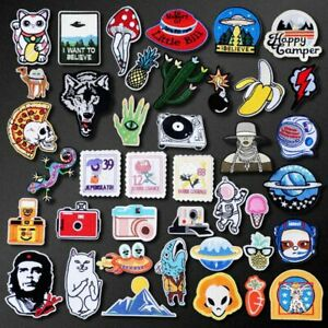 6x Sport Patch Iron on Embroidered Patch For Clothes Jacket Backpack