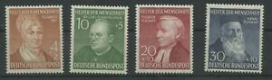 Germany-BRD-Federal-1952-Mi-156-159-Mint-MNH-More-See-Shop