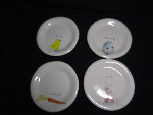 Rae-Dunn-Dessert-Salad-Plates-Artisan-Collection-Magenta-Set-of-4