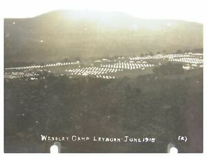 Antique-military-WW1-RPPC-postcard-Wensley-Camp-Leyburn-June-1915