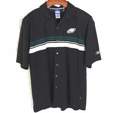 Philadelphia Eagles Polo Shirt Full Button Front Reebok Golf NFL Shirt Size L