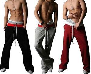 Men-Casual-Sport-Sweat-Pants-Harem-Training-Dance-Baggy-Jogging-Trousers-Slacks