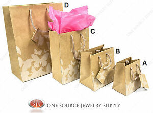 Gift Bags Kraft White Butterfly Print Tote Party Supplies Paper Gift Bags