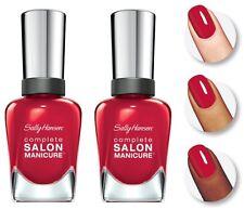 2X Sally Hansen Complete Salon Manicure Nail Polish -  231 / 470 Red My Lips
