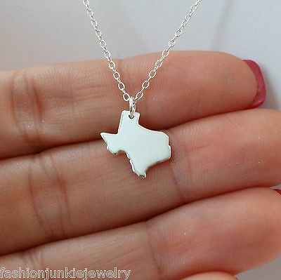 Texas State Charm Necklace 925 Sterling Silver US State Texas Charms NEW