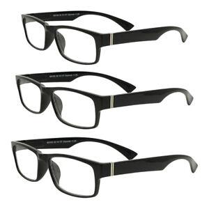 352d29868a14 Details about Wayfarer Strong Black Reading Glasses Ladies Mens +1 +1.5  +2.0 +2.5 +3.00