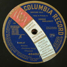 "78rpm 12"" GEORGE BAKLANOFF hamlet - drinking song , thomas , single side"