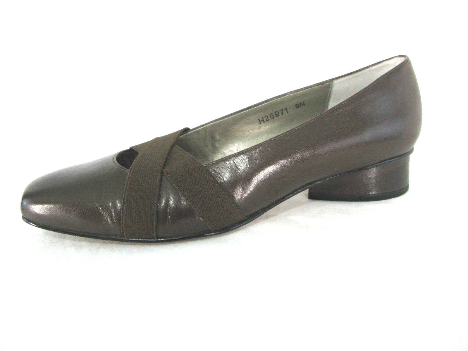 Ros Hommerson shoes Sz 9N Brown Leather Pumps Low Heel Loafers Mary Jane 9 N
