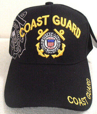 MILITARY-CAP-U-S-COAST-GUARD-HAT-BLACK-WITH-SHADOW