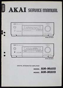 Details about Akai am-m600 am-m800 Original Integrated Amplifier Service on