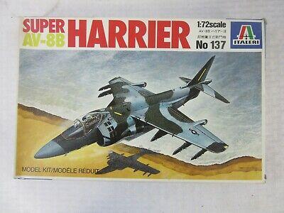 vintage italeri 1/72 super av-8b harrier model kit, #137 | ebay  ebay