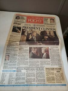 January-21-1993-Vintage-Newspaper-FLORIDA-TODAY-President-Clinton-Cover