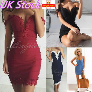 UK-Womens-Bodycon-Bandage-Evening-Party-Dress-Ladies-Formal-Wedding-Lace-Dress
