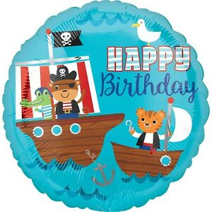 2-x-Pirates-17-039-039-Round-Helium-Happy-Birthday-Party-Pirate-Balloons-Twin-Pack