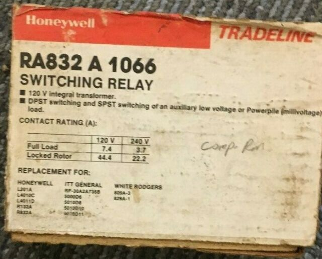 Honeywell Ra832a 1066 Switching Relay For Sale Online