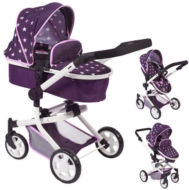 Bayer Chic 2000 Kombi-Puppenwagen MIKA Stars lila NEU Babypuppen & Zubehör