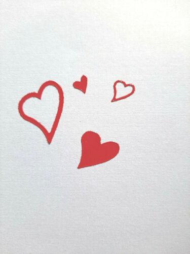 Rot Nr 120 Stickerbogen Liebe Herzen
