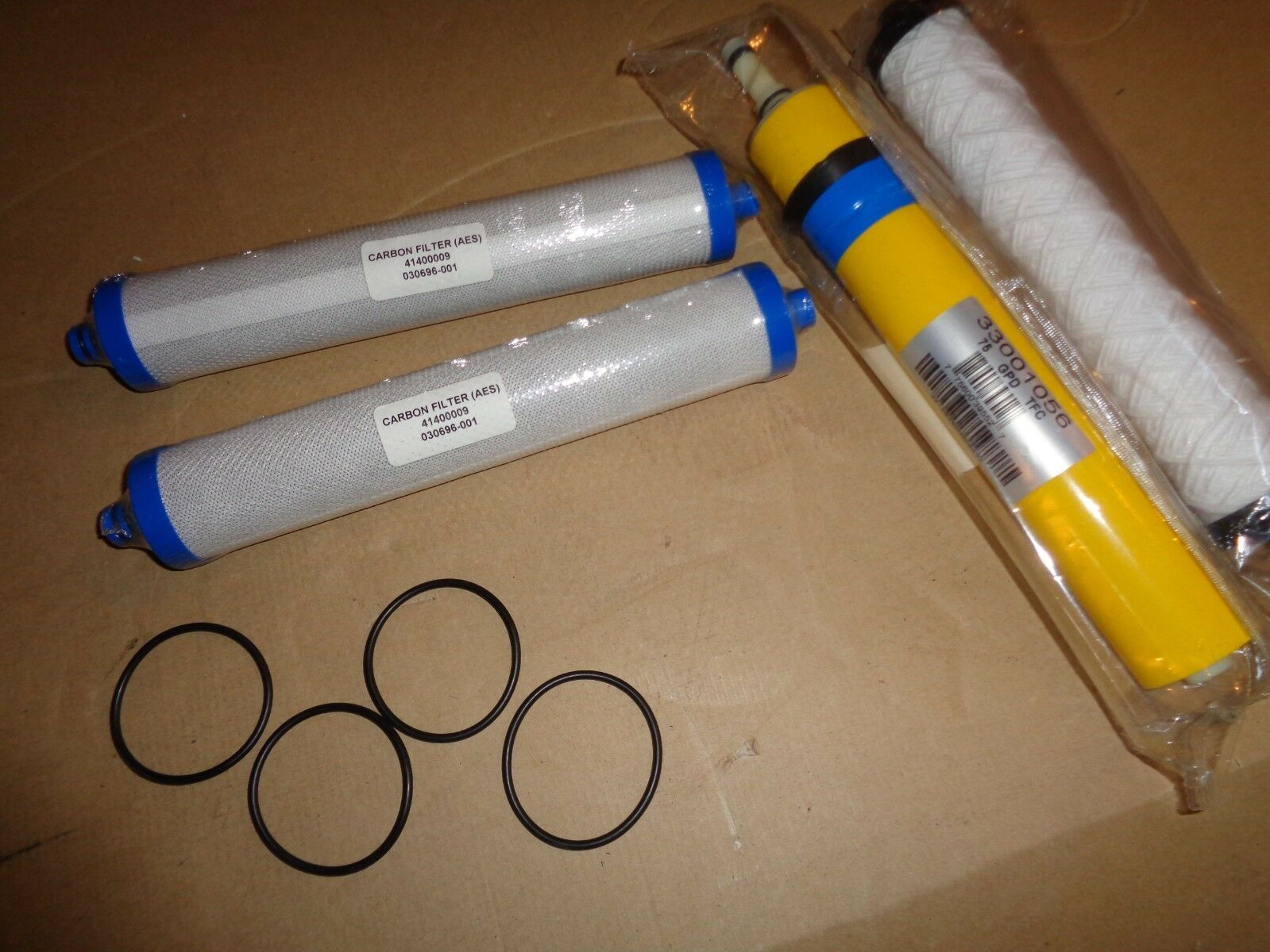 Hydredech 33001056 75 GPD TFC Reverse Osmosis Membrane carbon filters o- rings