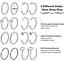 32-20G-Surgical-Steel-CZ-Nose-Pin-Bone-Stud-Nose-Hoop-Ring-Set-Piercing-Jewelry thumbnail 3