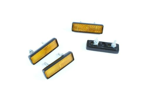 Cat Eye RR-0223 bolt-on bicycle pedal reflectors set of 4 with nuts//washers