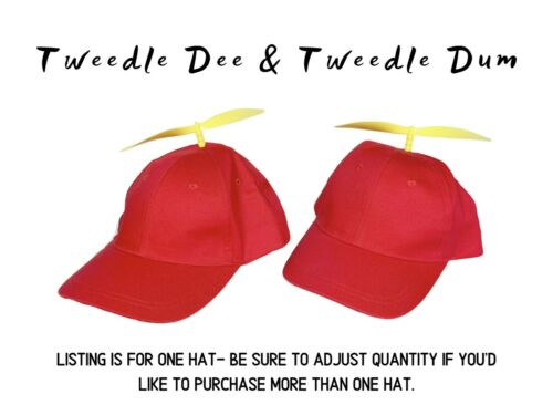 Red Propeller Hat for Toddlers Details about  /Toddler Tweedle Dee Hat Tweedle Dum Hat for Kids