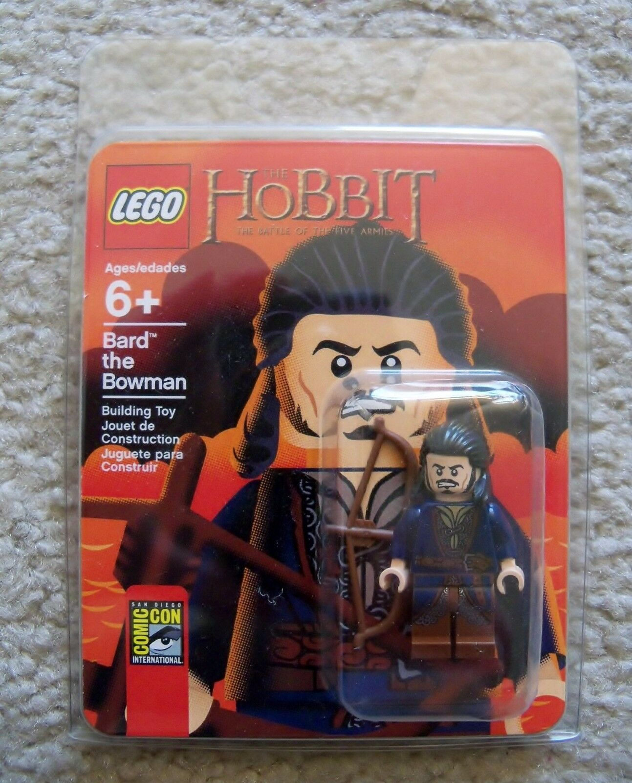 Lego - Super Rare - Sdcc 2014 - The Hobbit - Bard The Archer