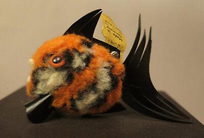 7789:kleiner Wollfisch,wohl Anemonenfisch,von Steiff,mit Originalfahne Und Knopf