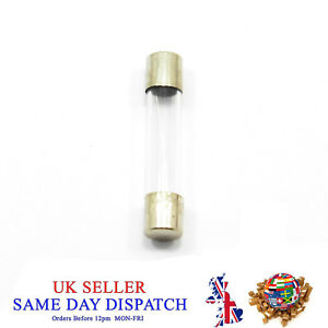 250V-6x30mm-Glass-Fuse-Slow-Blow-Acting-1A-30A-Amp