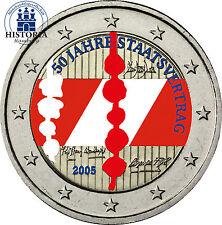 Österreich 2 Euro Gedenkmünze 2005 bfr. 50 Jahre Staatsvertrag in Farbe